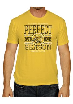 Wichita State Shockers Original Retro Brand Fashion T-Shirt - Gold Perfect Season Short Sleeve Fashion Tee http://www.rallyhouse.com/shop/wichita-state-shockers-original-retro-brand-4810524 $24.99