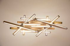 LED Wooden Chandelier LED lamp wood lamp by NextLevelStudio