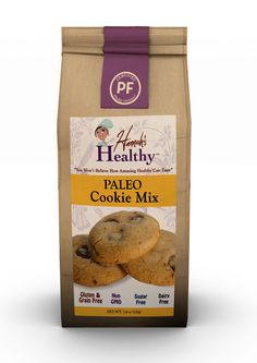 Hannah's Healthy Paleo Cookie Mix is the perfect blend of gluten-free and grain-free flours that provide the authentic taste and texture of real chocolate chip cookies. Test them out on your kids a Primal Recipes, Easy Healthy Recipes, Raw Food Recipes, Gourmet Recipes, Pancake Recipes, Healthy Desserts, Free Recipes, Paleo Biscuits, Paleo Pancakes