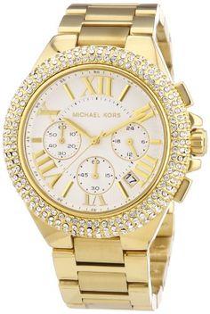 Michael Kors Damen-Armbanduhr XL Chronograph Quarz Edelstahl beschichtet MK5756 - http://uhr.haus/michael-kors/michael-kors-damen-armbanduhr-xl-chronograph