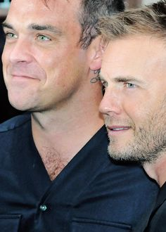 If we were male pop stars. we'd be Robbie Williams and Gary Barlow!-) Of course, you are Robbie! Stoke On Trent, Take That Band, Robbie Williams Take That, Mod Music, Howard Donald, Jason Orange, Martin Smith, Mark Owen, Gary Barlow