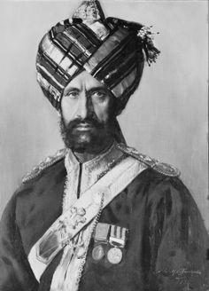 Ressaidar and Woordie-Major Ahmad Khan, Bahadur and Khan Sahib, 11th Bengal Lancers  Signed and dated 1893