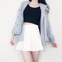 Cute fashion hooded fleece cowboy two-piece outfit << omg this looks like what isabelle yang wears. Korean Fashion Trends, Korean Street Fashion, Korea Fashion, Asian Fashion, Kpop Outfits, Mode Outfits, Casual Outfits, Korean Outfits Cute, Korean Clothes