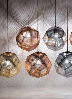 Tom Dixon Etch hanglamp koper • de Bijenkorf