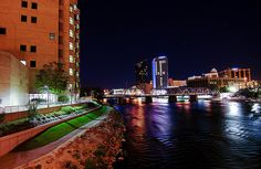 Grand Rapids, Michigan. Love hanging out downtown by the Amway Grand.