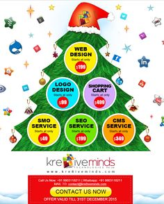 #Amazing #Offers for Christmas and New Year on #Logo #Design For more details Visit Us at: www.kre8iveminds.com Or Call Us @ 9903118211 Logo Design Services, Christmas And New Year, Web Design, Logos, Amazing, Design Web, Logo, Site Design, Website Designs