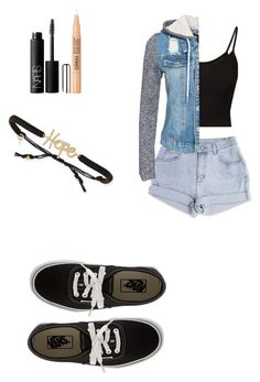 """""""Untitled #44"""" by dude-iloveyouxo ❤ liked on Polyvore featuring NLY Trend, NARS Cosmetics, Clinique, Vans and Tai"""