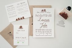 Home sweet home invites by Three Fifteen Design.