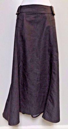Women's Cato Woman Dark Modest Long Jean Denim A Line Skirt Size 16W #Cato…