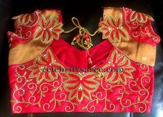 Red Uppada Silk Zardosi Blouse | Saree Blouse Patterns