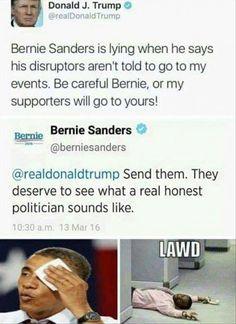 Bernie fucking Sanders, ladies and gents!!!! Savage  #bernbabybern #feelthebern #berndownthehouse