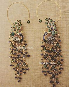 No matter how many new designs we bring to you each day. These will always remain closest to our heart! ❤️ So perfectly crafted - as if they speak to us :) Thank you my wonderful artisans for making them look so alive ! Indian Jewelry Earrings, Jewelry Design Earrings, Fashion Earrings, Bridal Jewelry, Etsy Earrings, Jewelery, Jhumki Earrings, Gold Earrings, Silver Jewelry