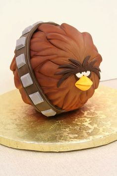 Mikes amazing cakes Joel said, Its Chewbacca Angry Bird!!  lol