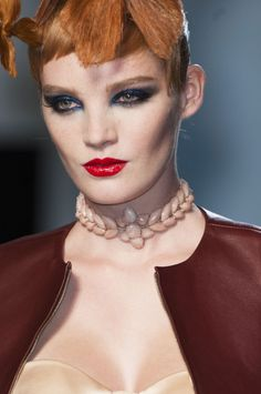 Smokey eyes at Jean Paul Gaultier spring 2014 Couture.