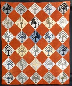 American.Quilt, Mid to late19th century. Plain and printed cotton, 71 x 82 in. (180.3 x 208.3 cm). Brooklyn Museum
