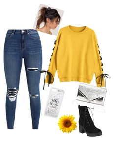 """""""Yellow touch"""" by sweet-arts ❤ liked on Polyvore featuring Kate Spade and Charlotte Russe"""