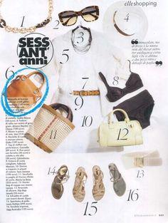 Italian Elle-lehden kesäkuun numerossa python-printillä varustettu Gabsin olkalaukku! Ants, Python, Blazer, Shopping, Italia, Ant, Blazers