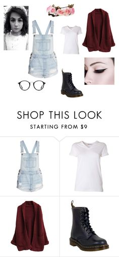 """Dodie Clark inspired outfit"" by ksilfa ❤ liked on Polyvore featuring T By Alexander Wang, Dr. Martens and Ray-Ban"
