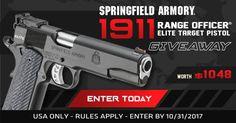 Enter To Win The Springfield Armory 1911 Range Officer® Elite Target Pistol Giveaway from @GunWinner!  https://wn.nr/y2PZpp