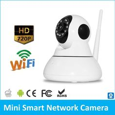 720P Wireless IP Camera P2P Network Camera Two Way Audio Motion Detection Alarm Pan Tilt WiFi Smart IP Cam