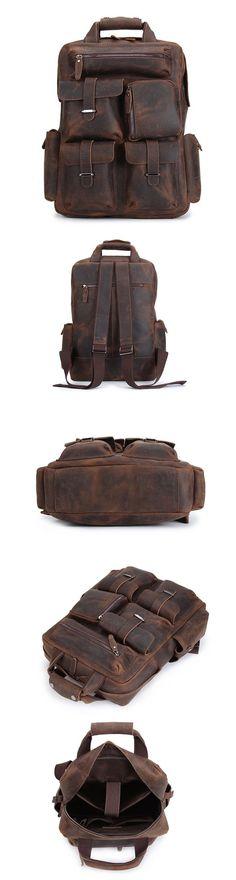 Vintage Leather Backpack/ Travel Backpack