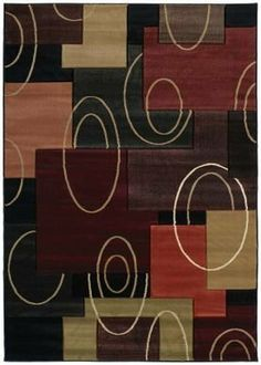 "United Weavers Contours Cha Cha Onyx Black Boxes Scrolls Contemporary Rug 2'7"" x 4'2"" (510-20576) by United Weavers. $112.99. Synthetic (olefin/polypropylene). Contemporary. Made in Turkey. Contours. 2'7"" x 4'2"". 3D effect around patterns created by hand carving technique used around the pattern. Free flowing pile is from 100 % heat set olefin."