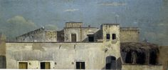 This is one of a series of paintings from Naples by Thomas Jones, showing the view from his lodgings. from old bookAuthor Thomas Jones Urban Landscape, Landscape Art, Landscape Paintings, Paintings I Love, Your Paintings, Oxford United Kingdom, Thomas Jones, Blue Lantern, Places In Europe