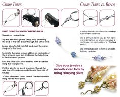 Crimp tubes vs beads from Cousin® #diyjewelry