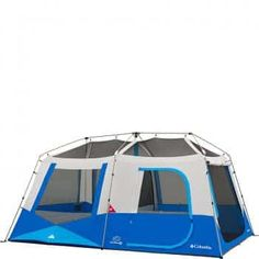 Columbia Sportswear Fall River 8 Person Instant Dome Tent (Compass Blue) -- Be sure to check out this awesome product. Camping Needs, Tent Camping, Camping Gear, 12 Person Tent, Instant Tent, Exercise Bike Reviews, Tent Reviews, Recumbent Bike Workout