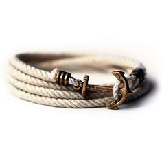 Nautical Anchor Bracelets - These Nautical Bracelets by Kiel James Patrick Look Like Mini Anchors