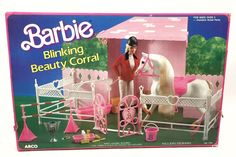 Barbie Blinking Beauty Corral Horse Stable New Vintage 80'S | eBay