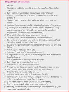 Gentlemans code of conduct