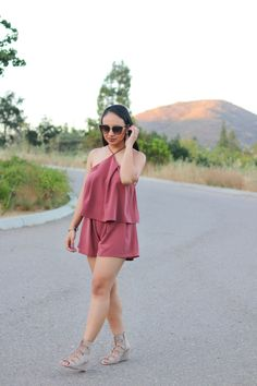 Top & Bottoms: Leith; Sunglasses: Nordstrom B.P.; Shoes: dv