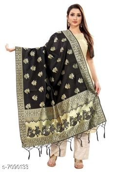 Checkout this latest Dupattas Product Name: *Stylish Women's Dupatta* Fabric: Silk Pattern: Woven Design Multipack: 1 Sizes:Free Size (Length Size: 2.2 m)  Country of Origin: India Easy Returns Available In Case Of Any Issue   Catalog Rating: ★4 (407)  Catalog Name: Stylish Women's Dupattas CatalogID_1131560 C74-SC1006 Code: 172-7090133-606