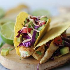 Quick and easy fish tacos with a chipotle mayo drizzle - perfect for those busy weeknights!