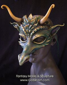 Green dragon mask by Goblin Art by goblinart, via Flickr
