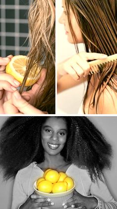 Use lemon juice to naturally highlight your hair. | 13 Simple Beach Beauty Hacks Just comb it through before you head outside. But be sure to use a hair sunscreen, too  the citric acid in the juice opens your cuticles, making your hair more susceptible to sun damage. But on the bright side, youre going to smell SO GOOD