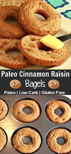 Paleo Plain or Cinnamon Raisin Bagels- Low Carb & Gluten Free