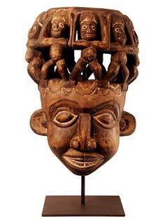 Bamun mask. Cameroon