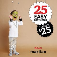 25 easy costumes under $25 - Martian - Today's Parent. http://www.todaysparent.com/family/activities/halloween-costumes-headbands/ #halloween #costumes