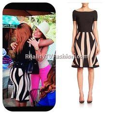 Charrisse Jackson Jordan's Hervé Léger Contrast Flutter Skirt #RHOP S1 E10 | Reality TV Fashion