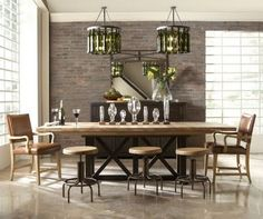Industrial Chic Decorating Ideas | Photo Sources: Universal Furniture , Home Accents Today, Rehab Vintage ...