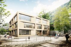 Architectonic Image by PLAY-TIME - Primary School in Engelberg for RH Architecten