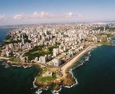 Salvador Bahia, Brasil, vista aérea.
