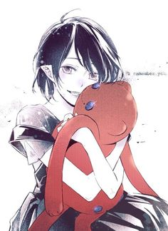 Marceline omg I just <3 how this is drawn its just so perfect if u know what I mean and it sparkles