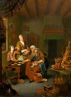 Mieris van Willem, The Pancake Woman, 1710-1719 ca, London, Victoria and Albert Museum
