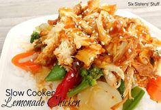 Slow Cooker Sweet and Sour Lemonade Chicken