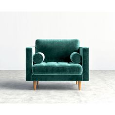 Sandro Luca Armchair - Aquamarine Black - Luca ($630) ❤ liked on Polyvore featuring home, furniture, chairs, accent chairs, aquamarine, black chair, aqua blue chair, sandro, black armchair and black padded chairs