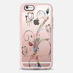 Dance of the Butterflies - Transparent - New Standard Case  @casetify #Casetify #iphonecase #phonecase #butterfly #butterflies #clearcase #transparentcase #rosegold #nature