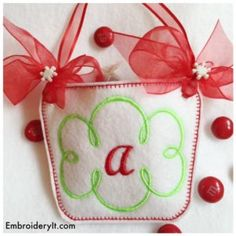 """Monogram Basket Letter """"A"""" - Embroidery It"""